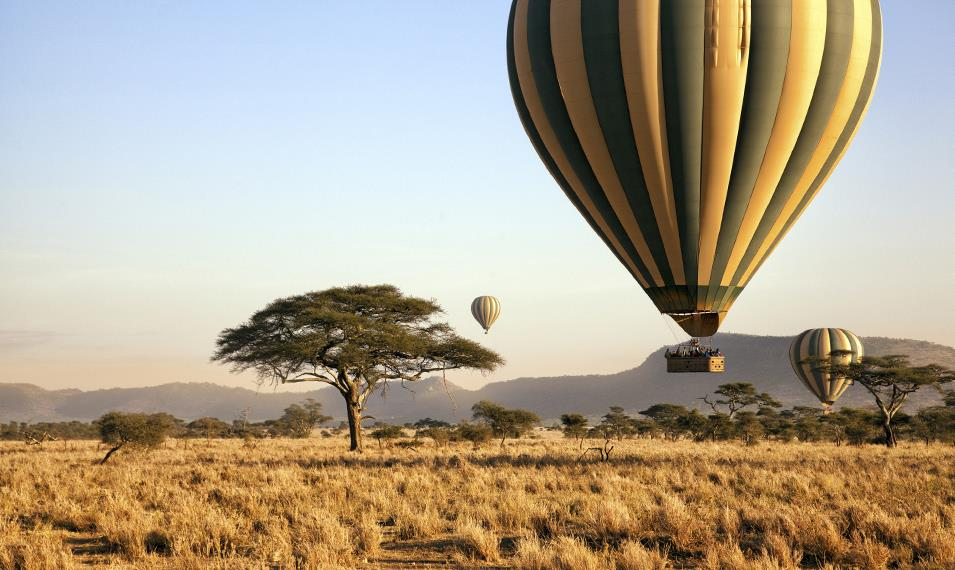 Soar over the Masai Mara on a hot air balloon flight.